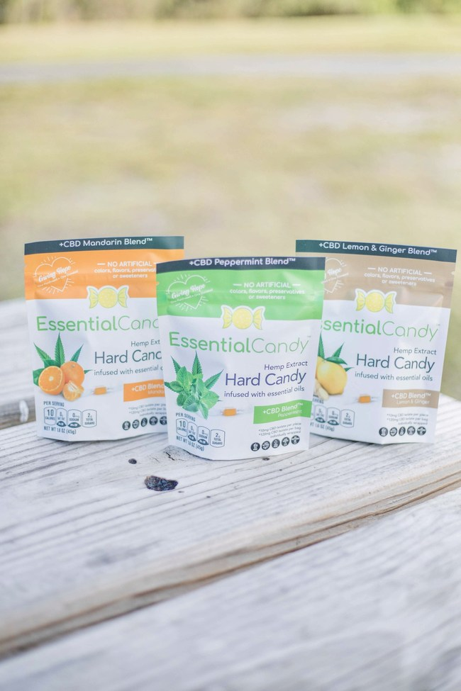 "Essential Candy® – ""Candy With A Purpose"" – Redefines Hard Candy with All-Natural Healthy Blends, Infused with Pure Essential Oils"